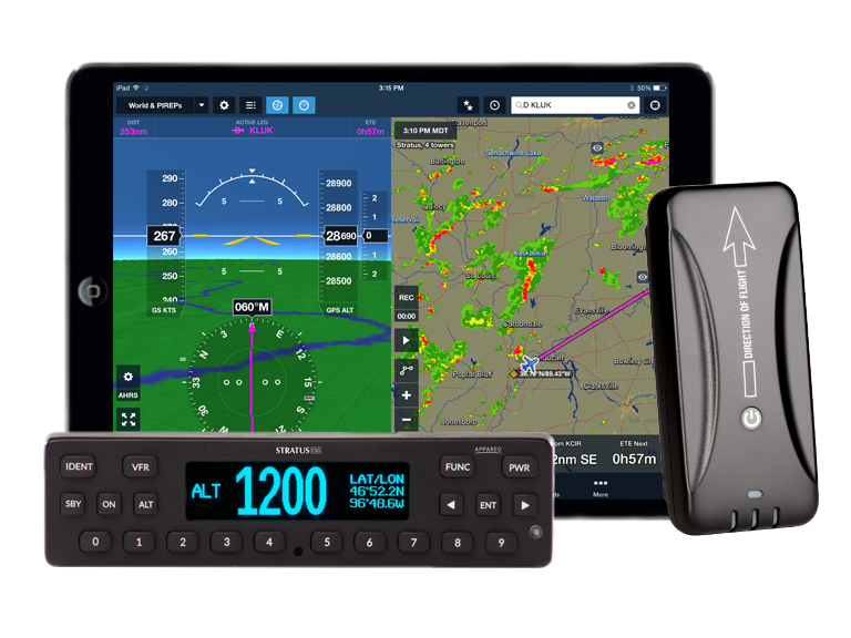 Appareo STRATUS ESGi Certified Transponder with WAAS GPS and ADS-B In/Out