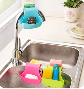 Double Sink Saddle Style Home Kitchen Organizer Storage Sponge Holder Rack New