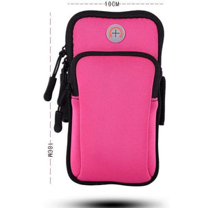 Women Sports Running Armband Phone Case Bag Lady Arm Band Holder Strap Pouch