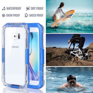 Samsung Galaxy S7 Edge / S7 Swimming Waterproof Shockproof Phone Case Cover