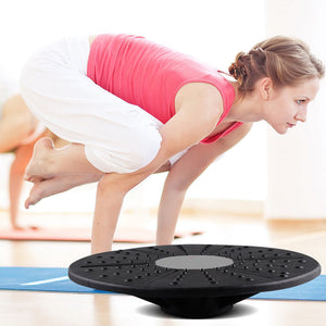 Black and Grey Sport Yoga Fitness Board Training Exercise Wobble Balance Board