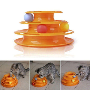 Cat Kitty Crazy Ball Disk Interactive Game Tower Amusement Plate Fun Toys