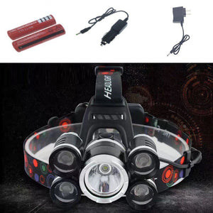 50000LM Rechargeable XM-L T6 LED Headlamp Headlight Camping Light Torch Lighting