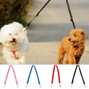 Adjustable 2 Way Coupler Pet Walking Leash Lead Dog Puppy Necklace Lead Leash