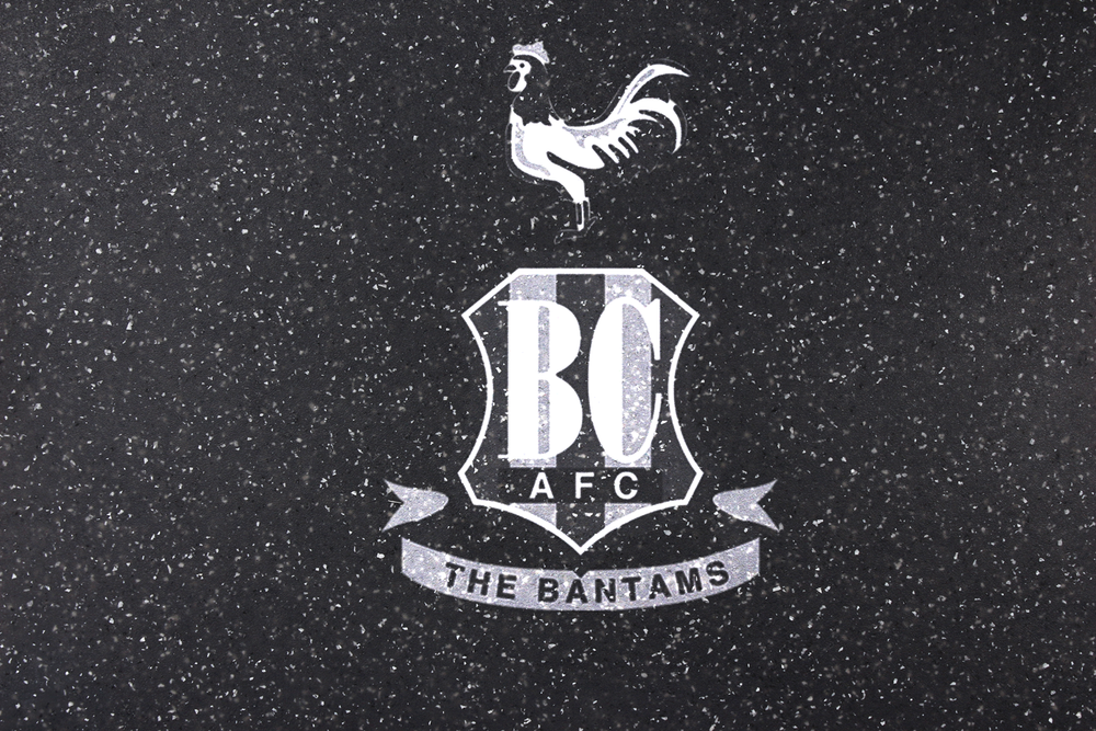 BRADFORD CITY FOOTBALL CLUB COMMERCIAL DEPARTMENT Granite Stone Copy of Premium Stone with Boars Head Crest