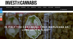 "IN ITALY YOU CAN LEGALLY BUY MARIJUANA AS LONG AS IT'S ""LIGHT"""