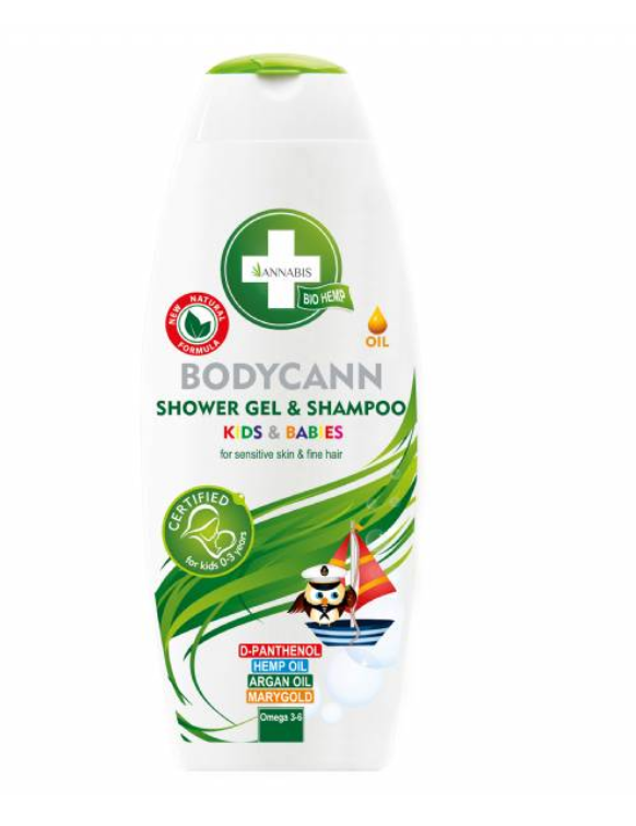 BODYCANN KIDS E BABIES SHAMPOO E SHOWER GEL 2 IN 1 DA 250ML - ANNABIS