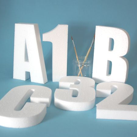 Polystyrene Letters for Craft and Display.