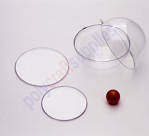 80mm diameter Clear plastic disc