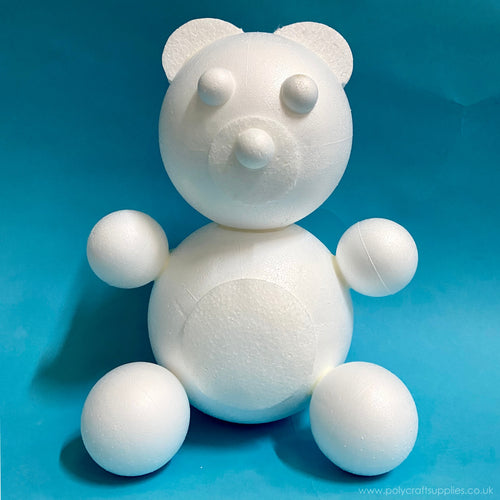 380mm polystyrene teddy bear kit