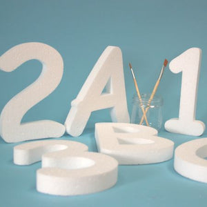 75 mm high polystyrene letters - Comic Sans