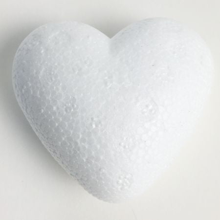 90mm tall 3D Polystyrene Heart