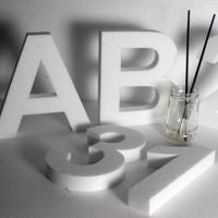 250 mm high polystyrene letters - Arial Bold