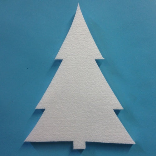 280  mm high - 2d polystyrene Christmas Tree