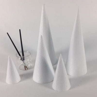 Polystyrene cone : 200 mm high - 100 mm diameter base