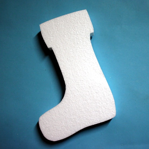 polystyrene 2D Christmas Stocking - 380 mm high