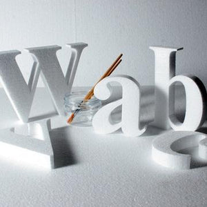Times New Roman - 100 mm high polystyrene letters