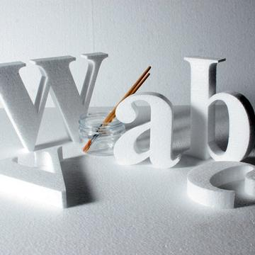 75 mm high polystyrene letters - Times New Roman Bold