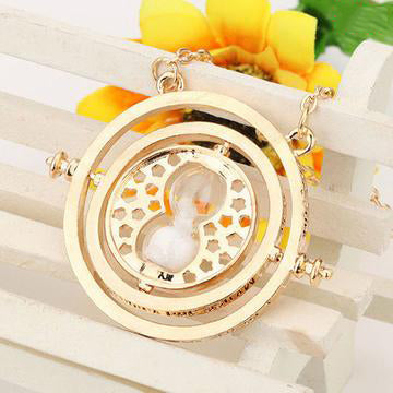 Time Turner Necklace - Hermione Granger Rotating Hourglass