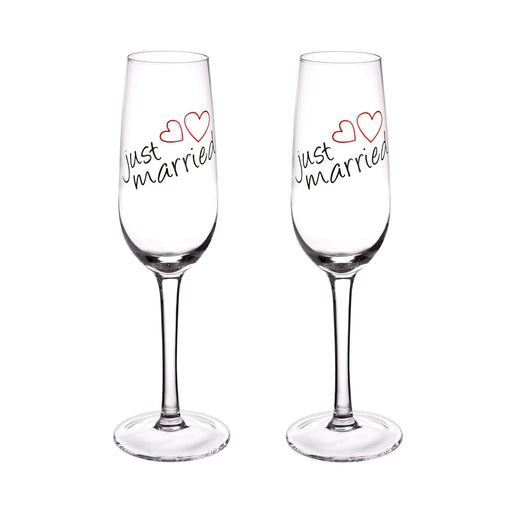 "Sektglas ""Just Married"", 2 Stück, 210 ml"