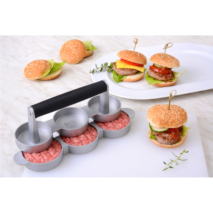 Mini-Hamburgerpresse für 3 Patties