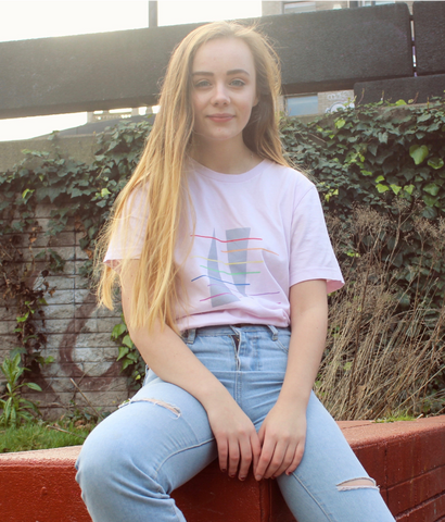 Pink Rainbow Triangle T-Shirt