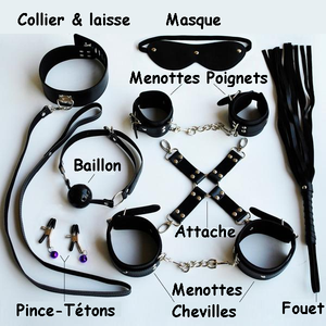 "Pack Complet Bondage 8 Pièces ""All in Black"""