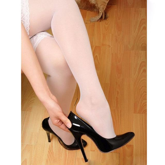 Collants Dentelle Sexy Blanc