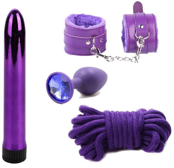 Pack Soft Bondage & Vibro 4 Coloris