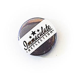 25Mm Retro School Style Button Badges Immaculate Reflection Car Care