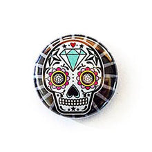 25Mm Retro School Style Button Badges Sugar Skull Immaculate Reflection Car Care