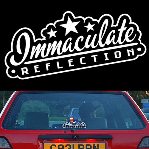Immaculate Reflection Vinyl Decal - Immaculate Reflection Car Care