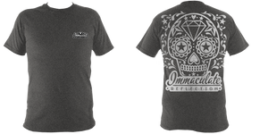 Sugar skull back design tee - Immaculate Reflection Car Care