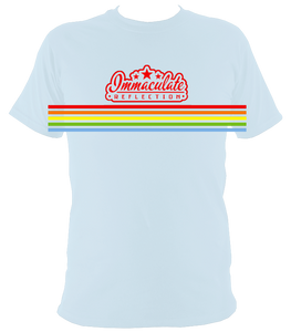 Retro Rainbow logo tee - Immaculate Reflection Car Care