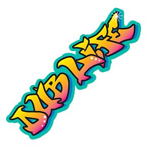 Dub Life Graffiti Sticker Stickers