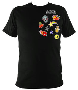 Icon Patches Tee Black / S (34-36 Inch Chest) Unisex T-Shirt