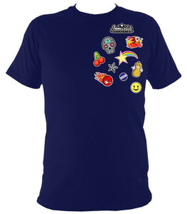 Icon Patches Tee Navy / S (34-36 Inch Chest) Unisex T-Shirt