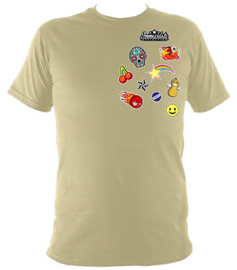 Icon Patches Tee Sand / S (34-36 Inch Chest) Unisex T-Shirt
