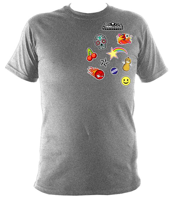 Icon Patches Tee Sport Grey / S (34-36 Inch Chest) Unisex T-Shirt
