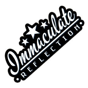 Immaculate Reflection Logo Sticker Stickers