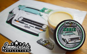 Personalised Car Illustration and Pot of Wax - Immaculate Reflection Car Care