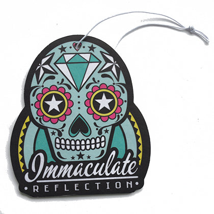 Sugar Skull - Hanging Air Freshener - Immaculate Reflection Car Care