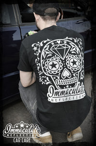 Sugar skull back design tee - Immaculate Reflection Car Care detailing