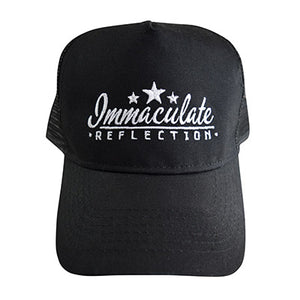 Black Snapback Trucker Cap - Immaculate Reflection Car Care