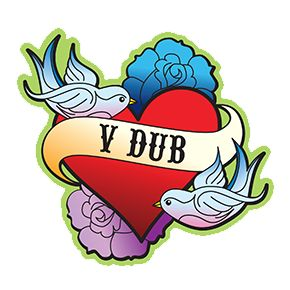 Vdub Tattoo Heart Sticker Stickers