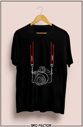 BroFactor Camera With Straps Graphic Printed T-Shirt
