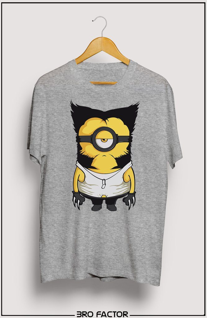 BroFactor Wolve Minion Graphic Printed T-Shirt