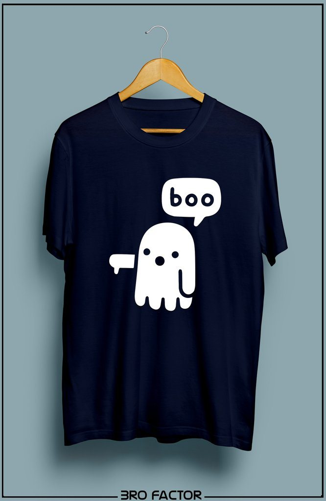 Bro Factor Cute Scary Ghost Graphic Printed T-Shirt