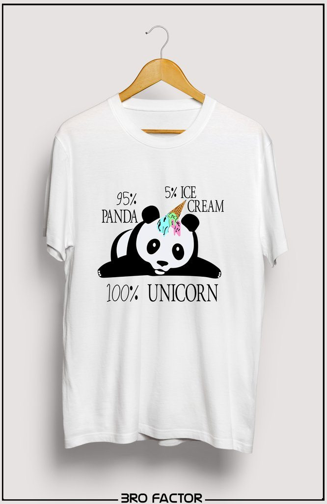 BroFactor Panicorn Graphic Printed T-Shirt