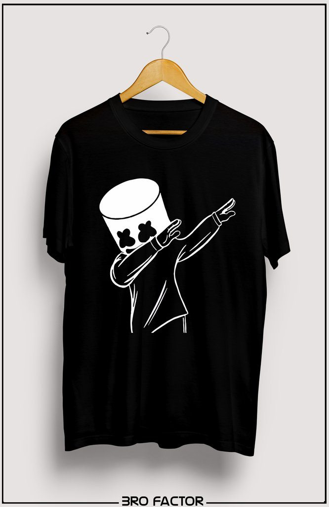 Marshmallow Dab Graphic Printed T-Shirt